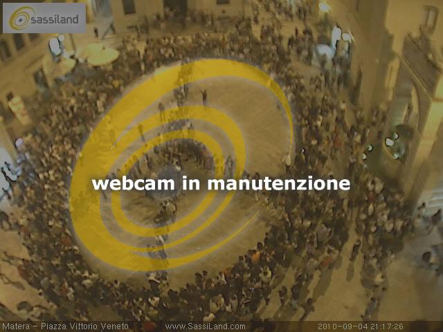 Webcam a Matera - Piazza Vittorio Veneto - zona Ipogei