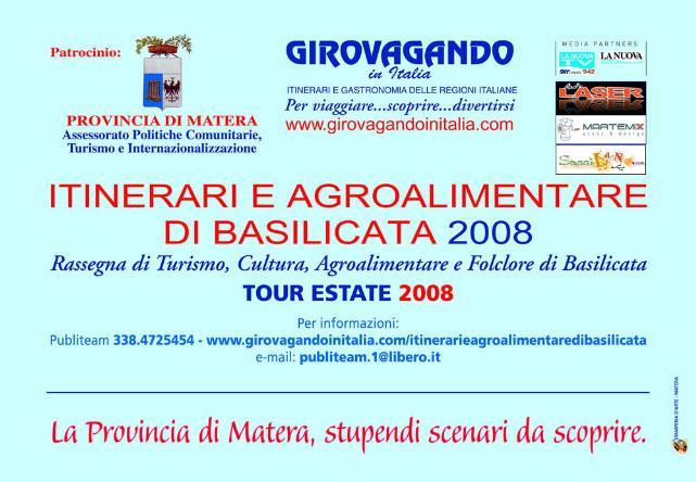 ITINERARI E AGROALIMENTARI DI BASILICATA 2008