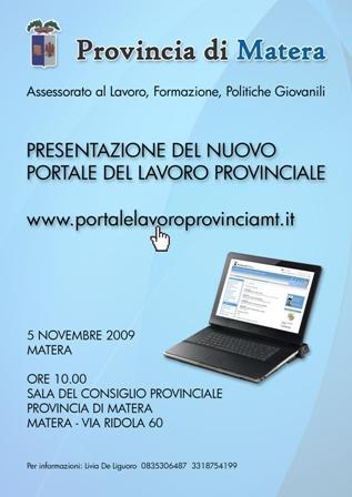 La provincia a lavoro: Presentazione del nuovo portale