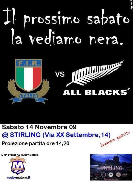 ASD RUGBY MATERA E STIRLING CLUB INSIEME PER ITALIA-NUOVA ZELANDA
