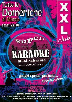 KARAOKE PRESSO XXL CLUB