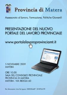 La provincia a lavoro: Presentazione del nuovo portale - Matera