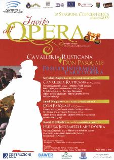 Invito all' Opera - III Stagione Concertistica Matera 2009 - Matera