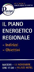 PIANO ENERGETICO REGIONALE - Matera