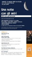 UNA NOTTE CON GLI ASTRI - 2009 anno internazionale dell'astronomia - Matera
