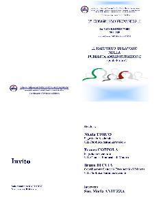 Il rapporto di lavoro nella pubblica amministrazione - Matera