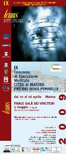 IX Concorso di esecuzione musicale - Matera