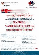 CAMBRIDGE CERTIFICATES - UN PASSAPORTO PER IL SUCCESSO - Matera