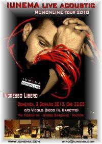 IUNEMA LIVE ACOUSTIC - NONONLINE TOUR 2010