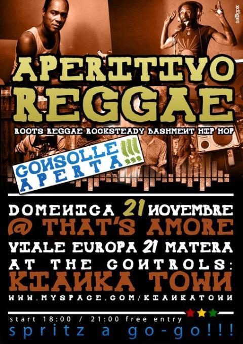 Aperitivo Reggae 21 novembre 2010