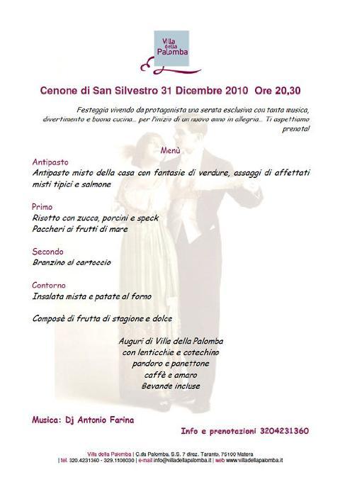 Cenone capodanno 2011 - Villa della Palomba