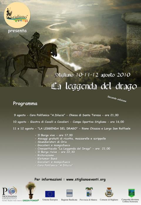 Locandina La Leggenda del Drago 2010