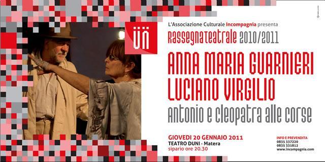 """Luciano Virgilio e Anna Maria Guarnieri: """"Antonio e Cleopatra alle corse"""""""