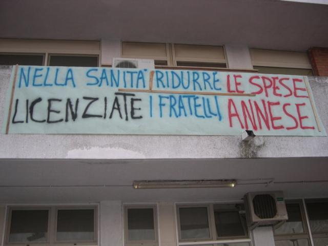 Manifestazione per l´ ospedale di Tinchi