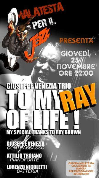 """My Ray of Life"" - Omaggio a Ray Brown - 25 novembre 2010"