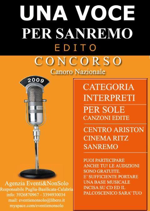 Una voce per Sanremo - Edito