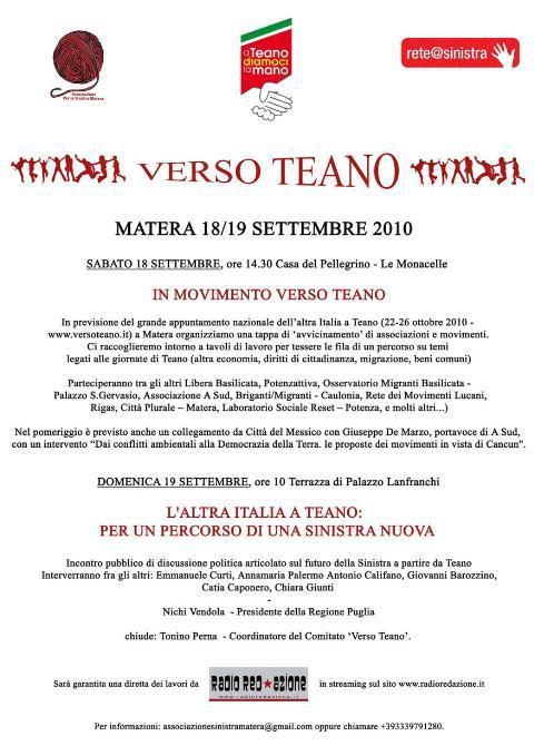 Verso Teano