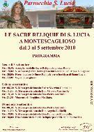 Reliquie Santa Lucia - Matera