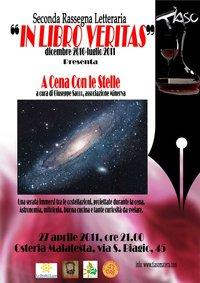 A cena con le stelle  - In libro Veritas - 27 aprile 2011