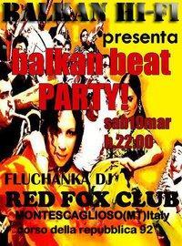 Balkan beat party - Red Fox Club