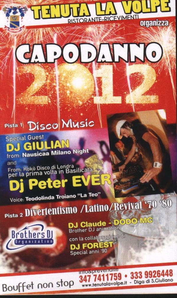 Capodanno 2012 a Tenuta La Volpe