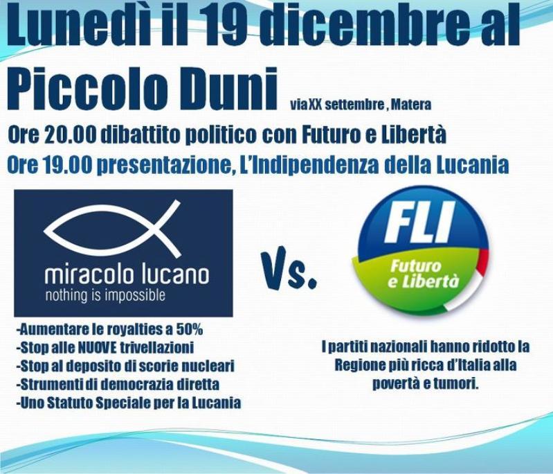 Dibattito Politico Miracolo Lucano Vs. FLI - 19 dicembre 2011