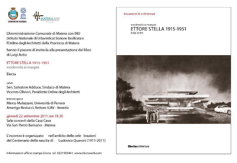 ETTORE STELLA 1915-1951 - Modernità ai margini
