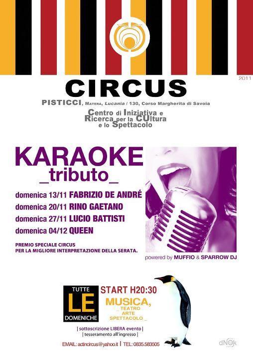 KARAOKE Tributo - Act in Circus