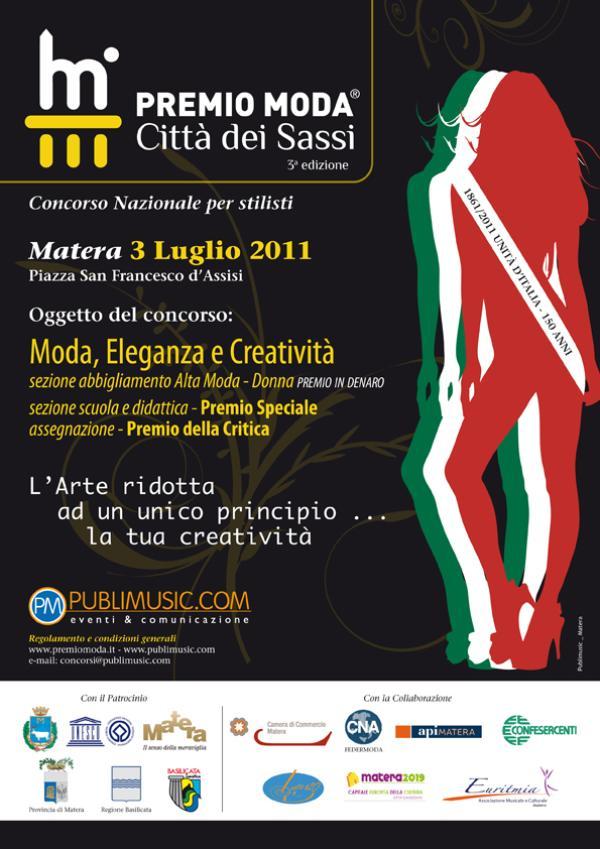 Premio Moda - Città dei Sassi - 3a Edizione