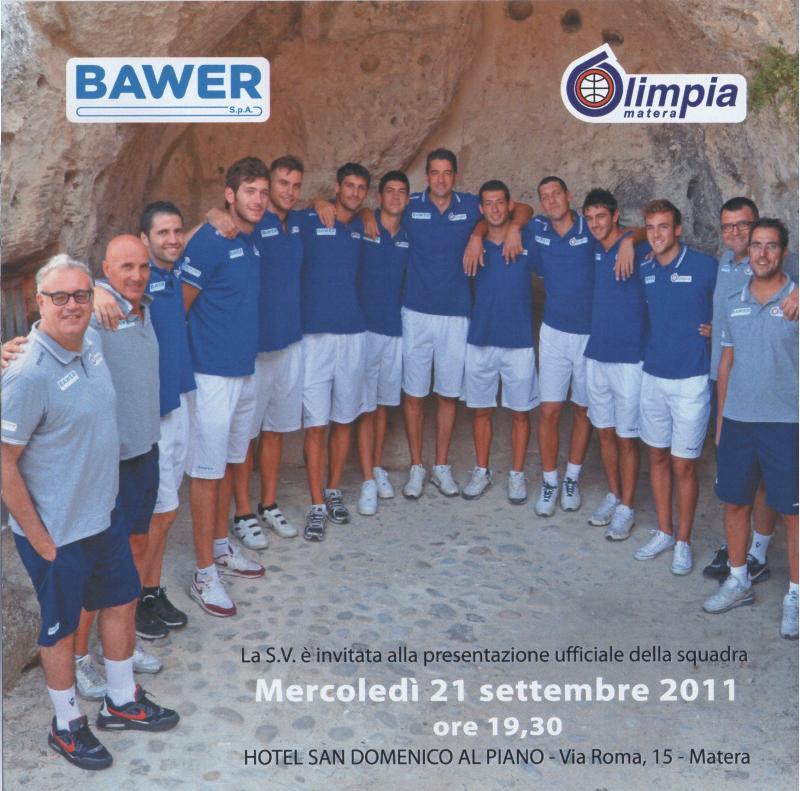 Presentazione ufficiale della squadra Bawer Matera - 21 settembre 2011