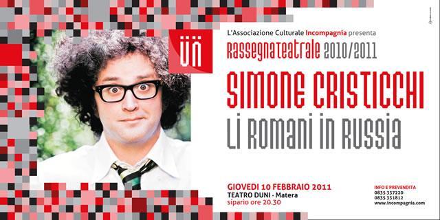 """Simone Cristicchi - """"Li Romani in Russia – racconto di una guerra a millanta mila miglia"""""""