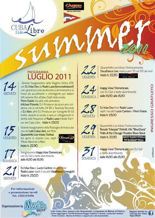 Summer 2011 - Lido Cuba Libre