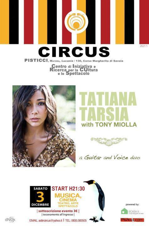 TATIANA TARSIA with Tony Miolla - 3 dicembre 2011