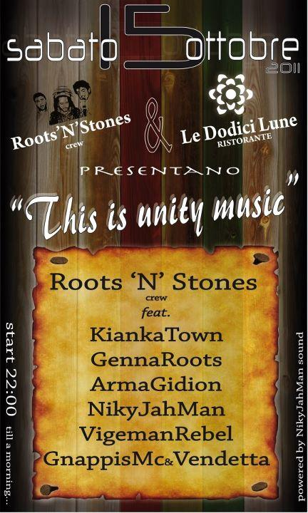 THIS IS UNITY MUSIC - 15 ottobre 2011