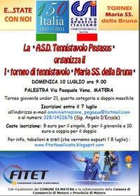1° Torneo di Tennistavolo Maria SS. della Bruna - Matera