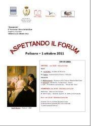 Aspettando il forum - 1 ottobre 2011 - Matera