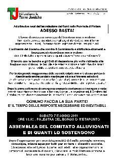 ASSEMBLEA DEL COMITATO ALLUVIONATI - 7 maggio 2011 - Matera