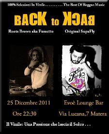 Back to Back - 25 dicembre 2011 - Matera