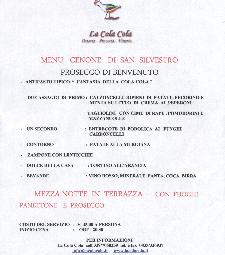 Cenone di San Silvestro a La Cola Cola  - Matera