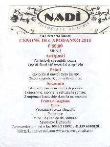 Cenone di San Silvestro a Nadì  - Matera