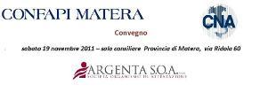 Codice degli appalti - 19 novembre 2011 - Matera