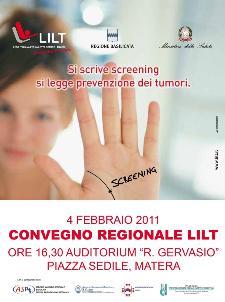 Convegno LILT - 4 febbraio 2011 - Matera