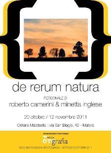 DE RERUM NATURA - dal 20 ottobre al 12 novembre 2011 - Matera