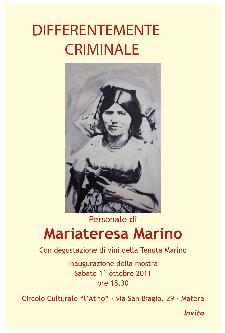 Differentemente Criminale - dal 1 al 16 ottobre 2011 - Matera