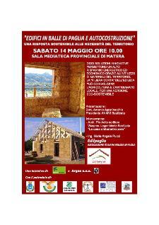 Edifici in paglia ed autocostruzione - 14 maggio 2011 - Matera