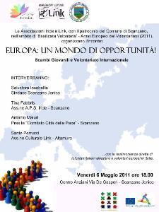 EUROPA – UN MONDO DI OPPORTUNITA' - 6 maggio 2011 - Matera