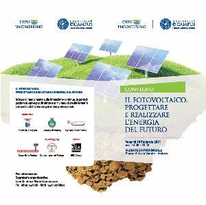 Fotovoltaico - Progettare e realizzare l'energia del futuro - 18 febbraio 2011 - Matera