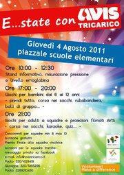 GIORNATA DI PROMOZIONE AVIS - 4 agosto 2011 - Matera