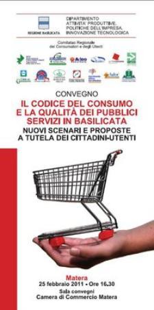 Il codice del consumo e la qualità dei pubblici servizi in Basilicata - Matera