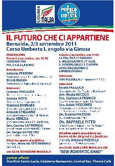 IL FUTURO CHE CI APPARTIENE - 2 e 3 settembre 2011 - Matera